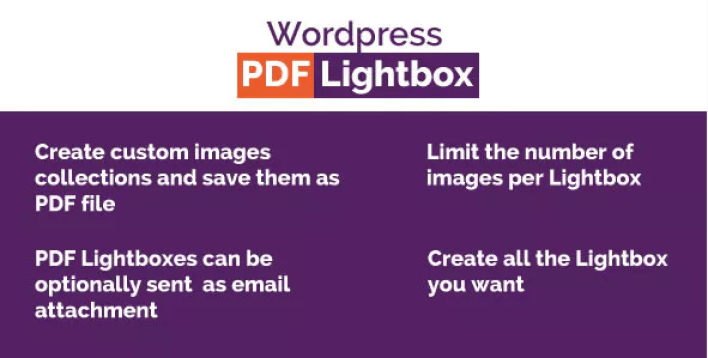 Wordpress Images PDF Lightbox plugin WordPress