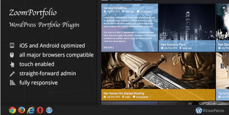 Zoomfolio wordpress portfolio plugin