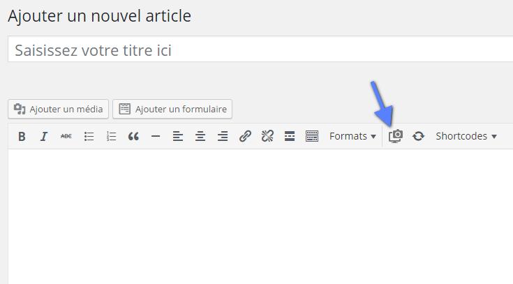 capture d'écran du site web WordPress