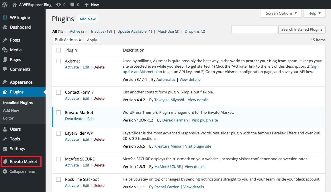 Cómo actualizar los temas de WordPress compran en ThemeForest ...