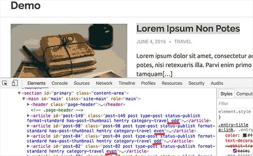 preview even odd WordPress article