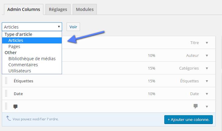 выберите тип публикации WordPress