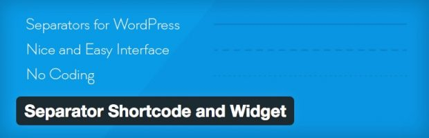 separate shortcode and widget