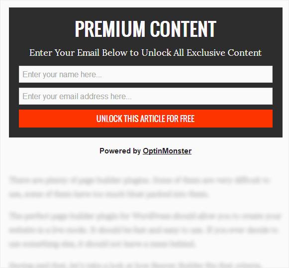 verrouillage de contenu exemple