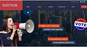 10 thèmes WordPress pour parti politique