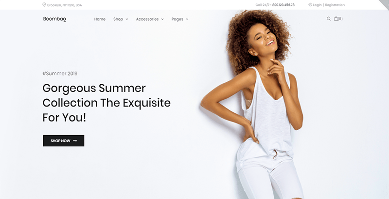 Boombag Theme Wordpress Creer Site Web Ecommerce Boutique En Ligne