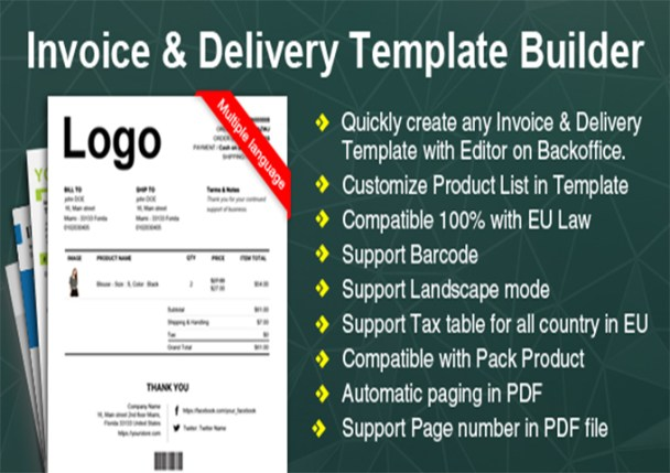 Mobile Invoice Printer Excel  Woocommerce Plugins To Generate Pdf Invoices   Woocommerce  Excel Invoicing System with Template For Donation Receipt Pdf Invoiceanddeliverytemplatebuildercreatebillspdf Cash Register Receipt Paper