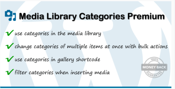Media library categories premium 1