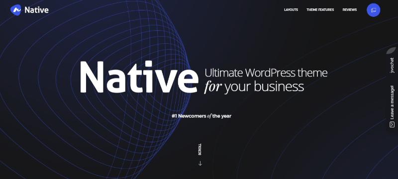 Temas nativos wordpress criar site agência de fotógrafos criativos