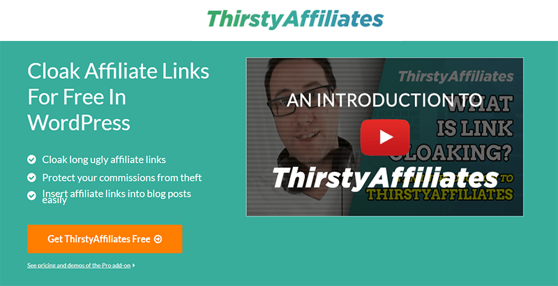 Thirstyaffiliates plugin wordpress publicité