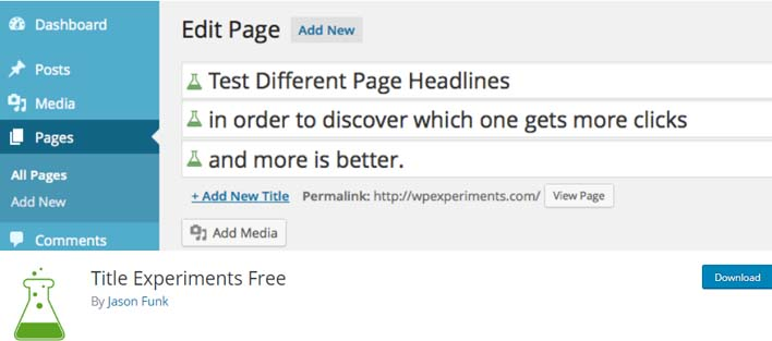 Title experiments free plugin wordpress test ab
