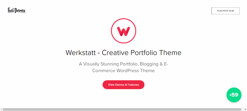 Werkstatt themes wordpress create website agência de fotógrafos criativos
