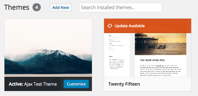 ajax thème exemple WordPress