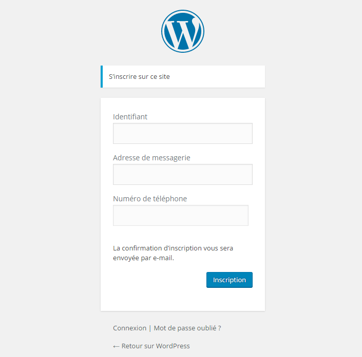 configuration champ WordPress