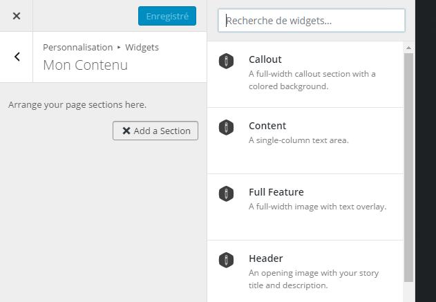 creation de contneu sur WordPress