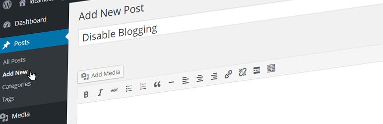 disable blogging plugin WordPress