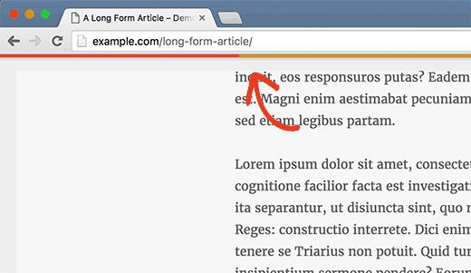 exemple progression WordPress