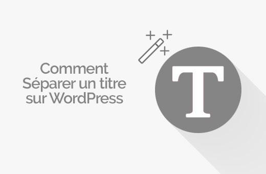 séparer un article sur WordPress