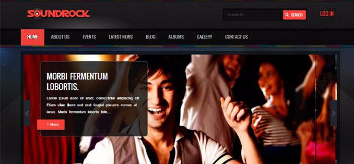 10 WordPress temas para website Música | BlogPasCher