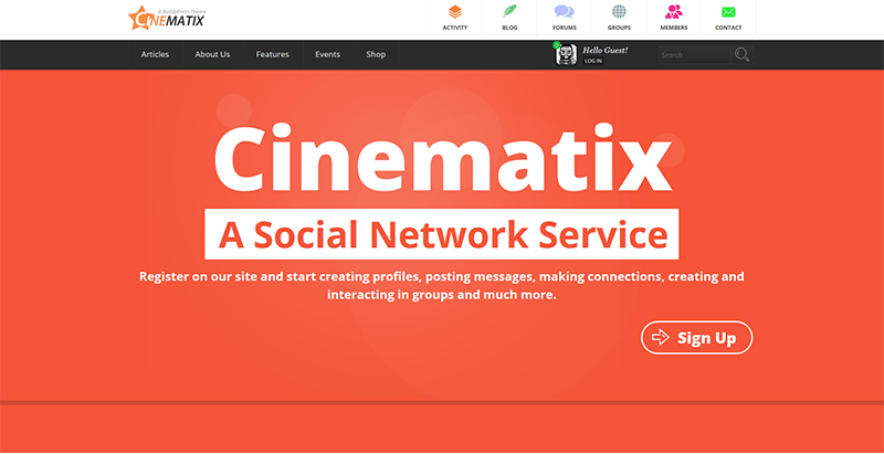 Cinematix themes wordpress reseau social