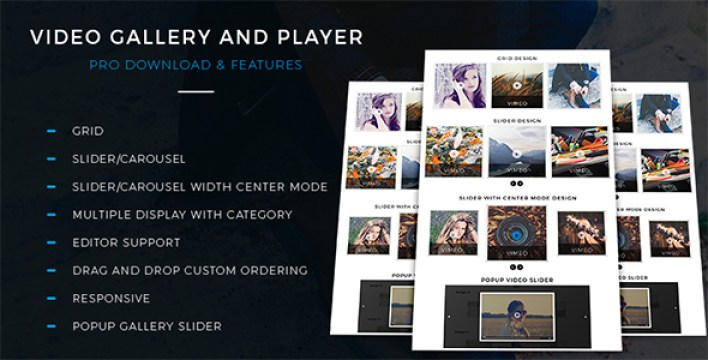 Video gallery and Player Pro