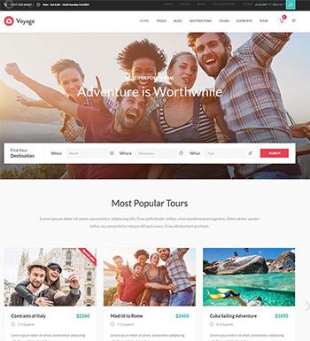 Voyage – Un Thème WordPress Pour Site Web D'agence De Voyages