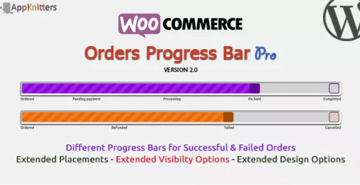 Woocommerce orders progress bar pro plugin wordpress barre progression