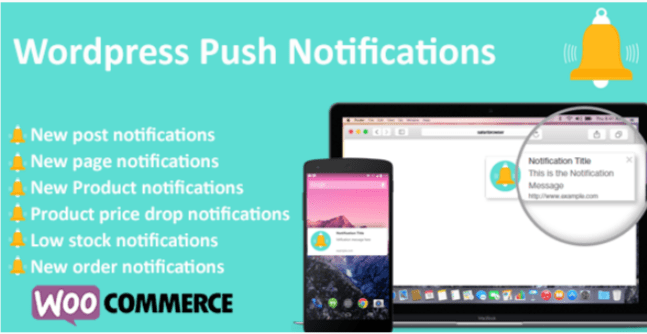 Wordpress push notifications woocommerce push