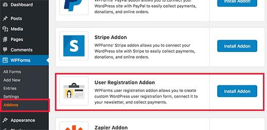 extensão de utilizador-registration-forma