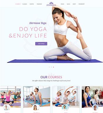 Hermosa – Un Thème WordPress Pour Club De Yoga