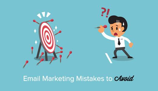 erro de marketing por e-mail para evitar