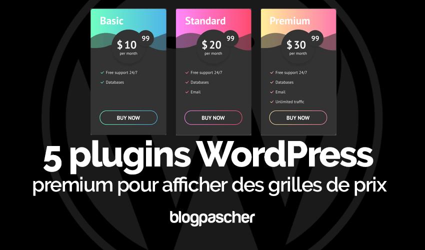 Wordpress 플러그인 표시 가격 목록