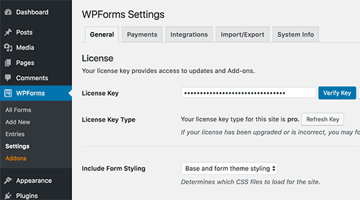 wpform-license-key