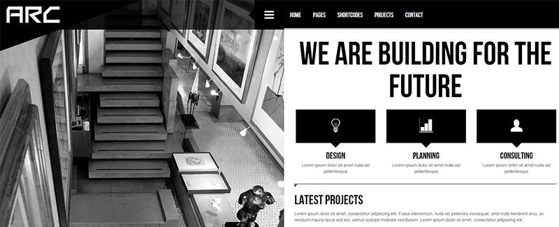 радужные темы-WordPress-сайт-интернет-архитекторы-архитектура портфель