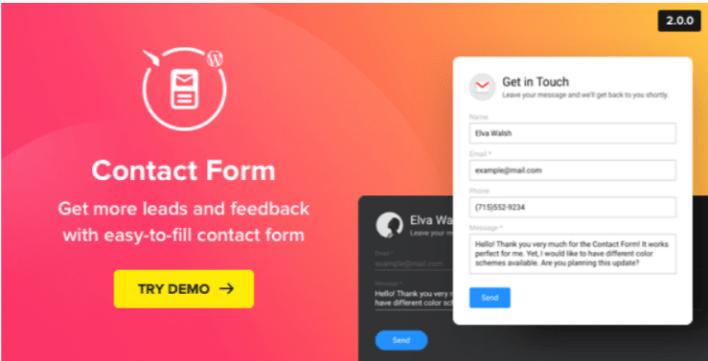 Contact us form wordpress contact form plugin