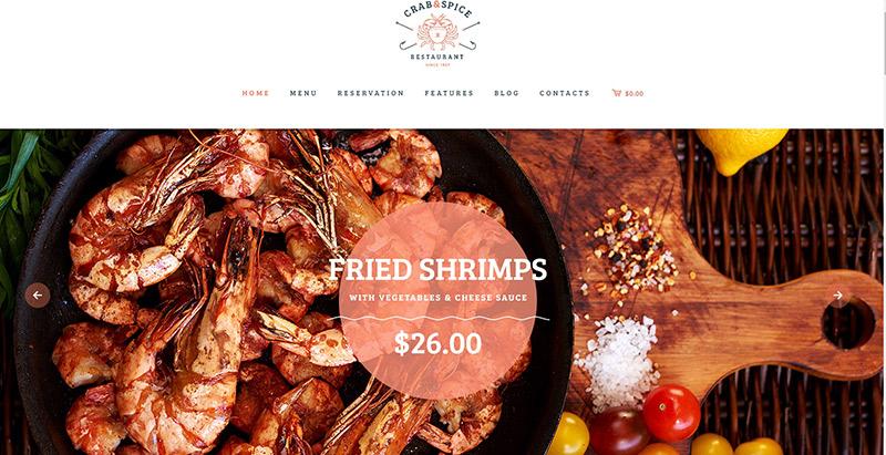 cangrejo-especia-theme-wordpress-crear el sitio Web-restaurante