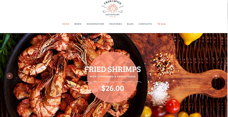 crab-spice-theme-wordpress-creer-site-internet-restaurant