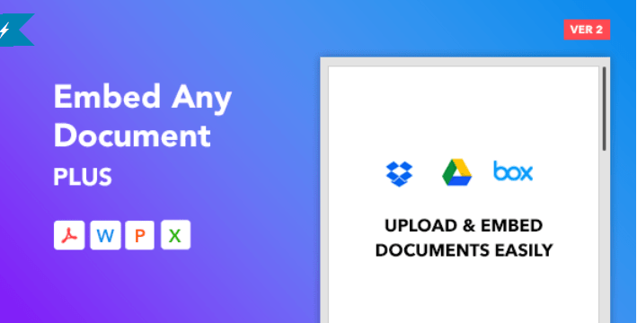Embed any document plus wordpress plugin