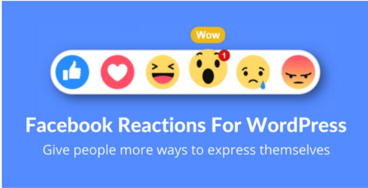 plugins WordPress pour ajouter des émoticônes et emojis - Facebook reactions