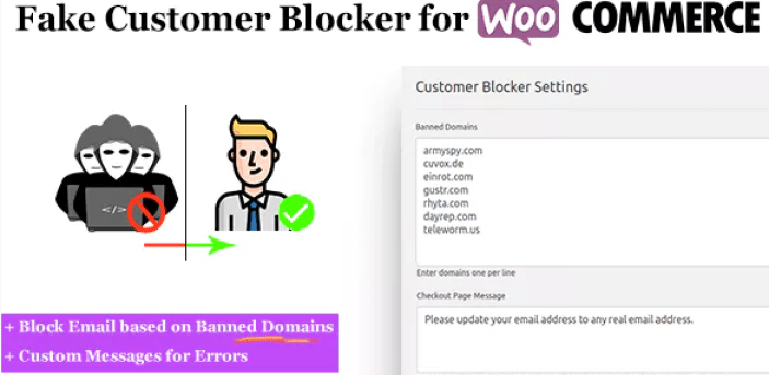 Fake customer blocker for woocommerce plugin wordpress