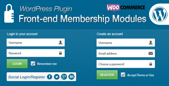 front-end-membership-modules