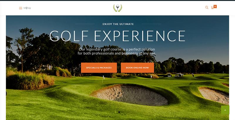 Golf club themes wordpress creer site internet club de sport