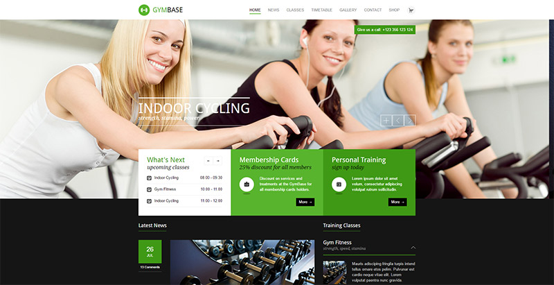 10 temas de WordPress para un gimnasio página web   BlogPasCher