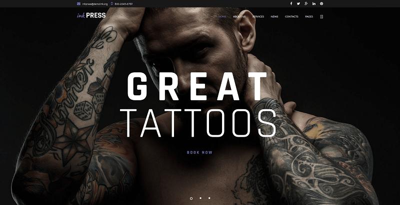 créer un site Web de salon de tatouages - Inkpress