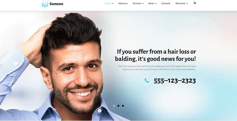 Themes WordPress Pour Creer Un Site Web De Salon De Coiffure