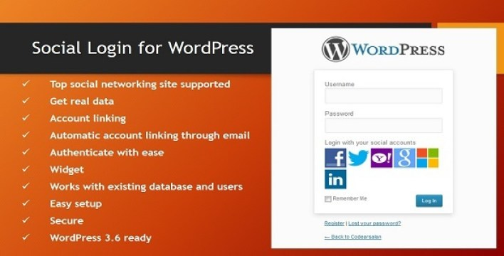 login-de-wordpress Social
