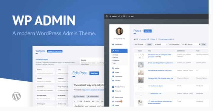 Wp admin theme cd a clean and modern wordpress admin theme