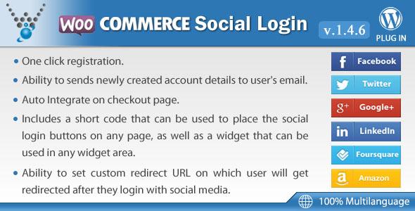 o login WooCommerce-sociais