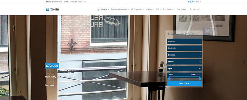 10 WordPress temas para una agencia inmobiliaria o empresa | BlogPasCher