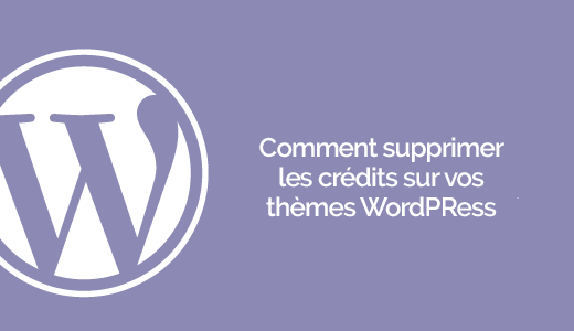 comment d u00e9sactiver les cr u00e9dits wordpress sur vos th u00e8mes